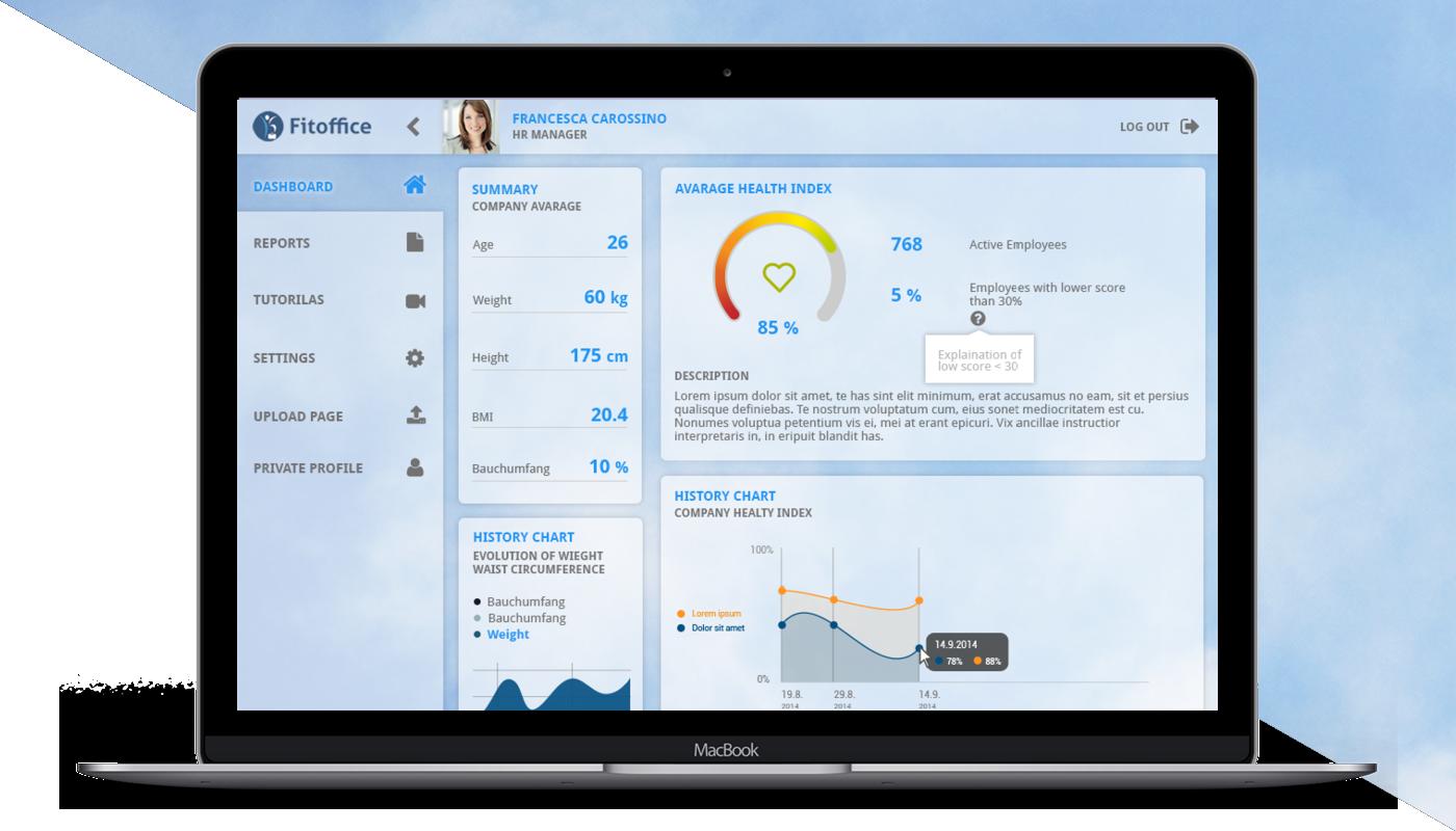 dashboard visual design SKY relax