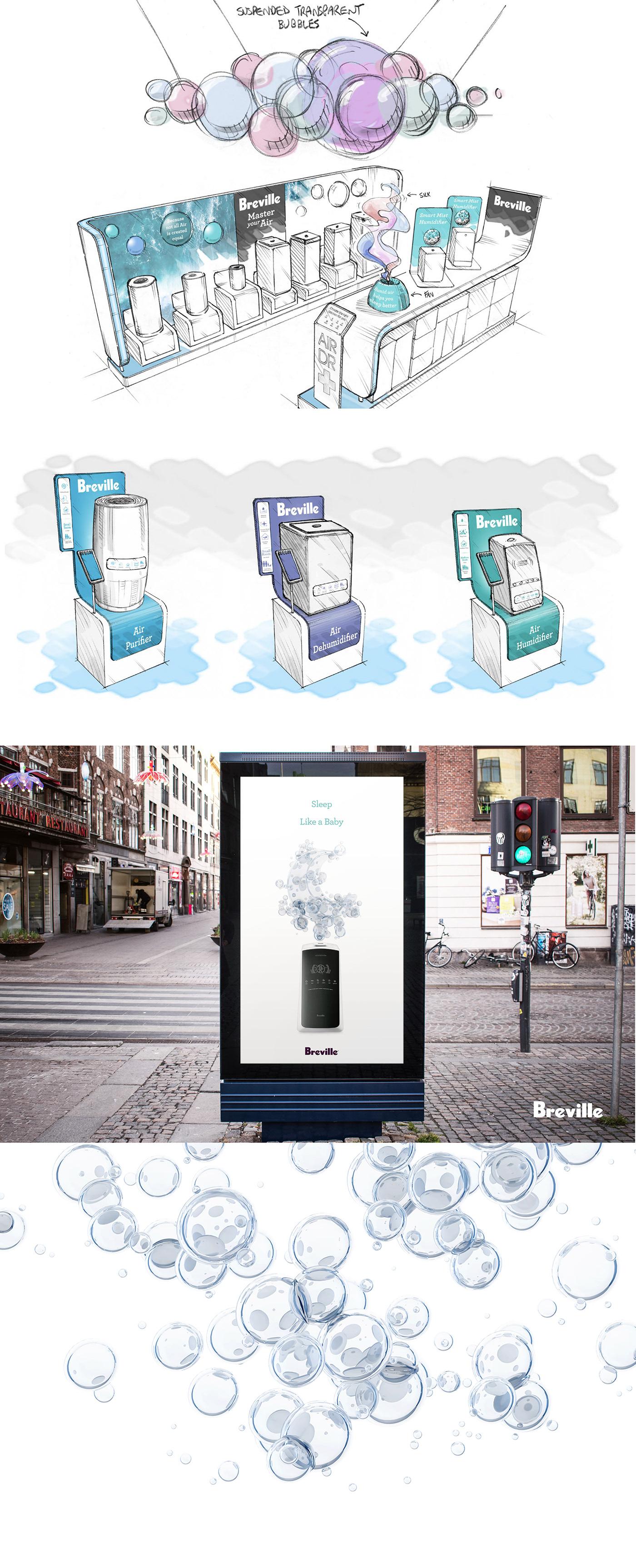 3D air Australia branding  breville bubbles particles purifiers UI ux
