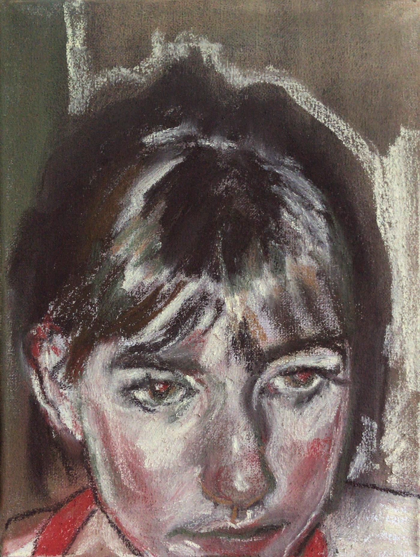 pastel Drawing  self portrait