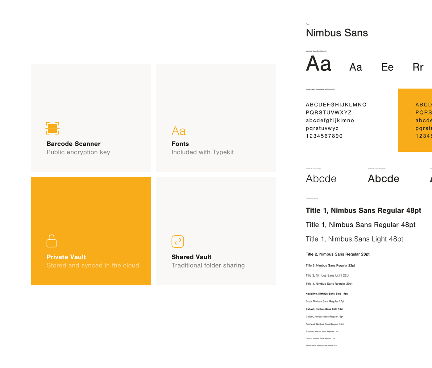 ui kit Adobe XD Style Guide security