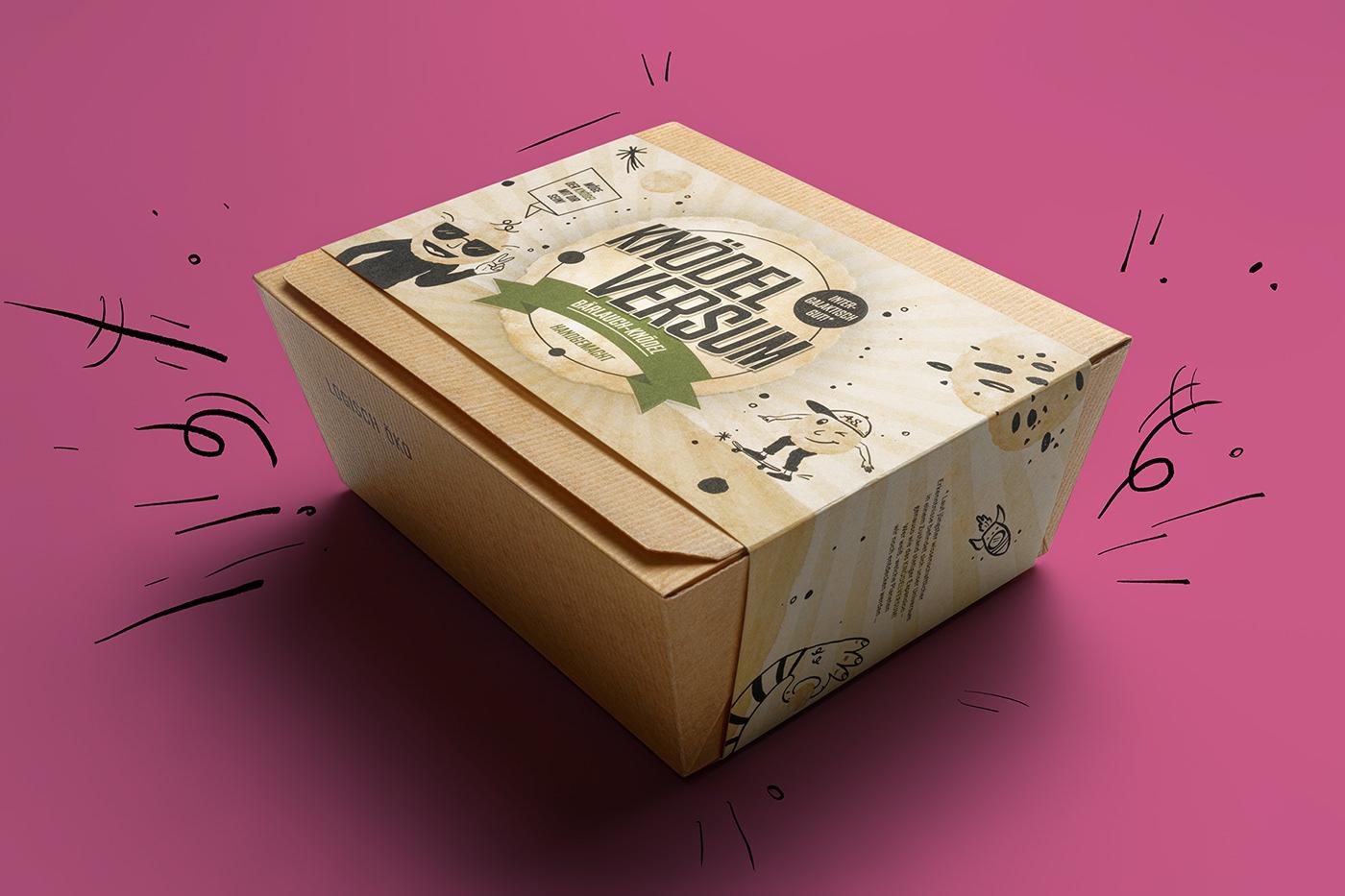 branding  dumblings graphicdesign Packaging packagingdesign printdesign universe wirsindartisten