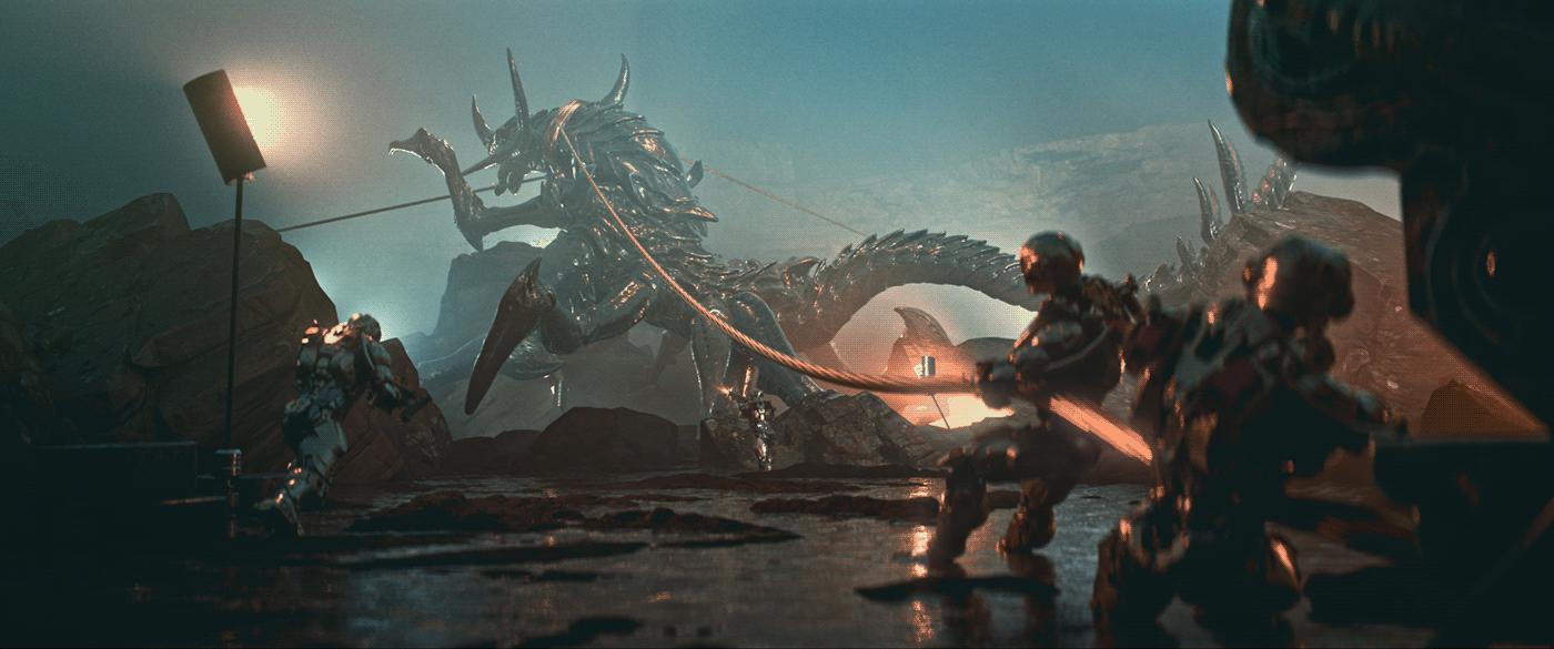 3D 3d animation Advertising  animation  CG CGI motion promo sci-fi titles