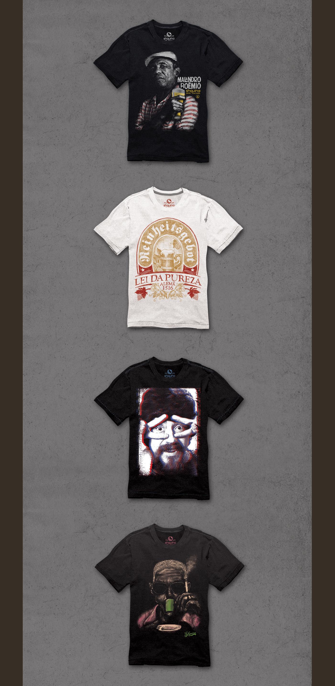 T Shirt Estampa Ilustração Samba Rio de Janeiro design gráfico moda carioca