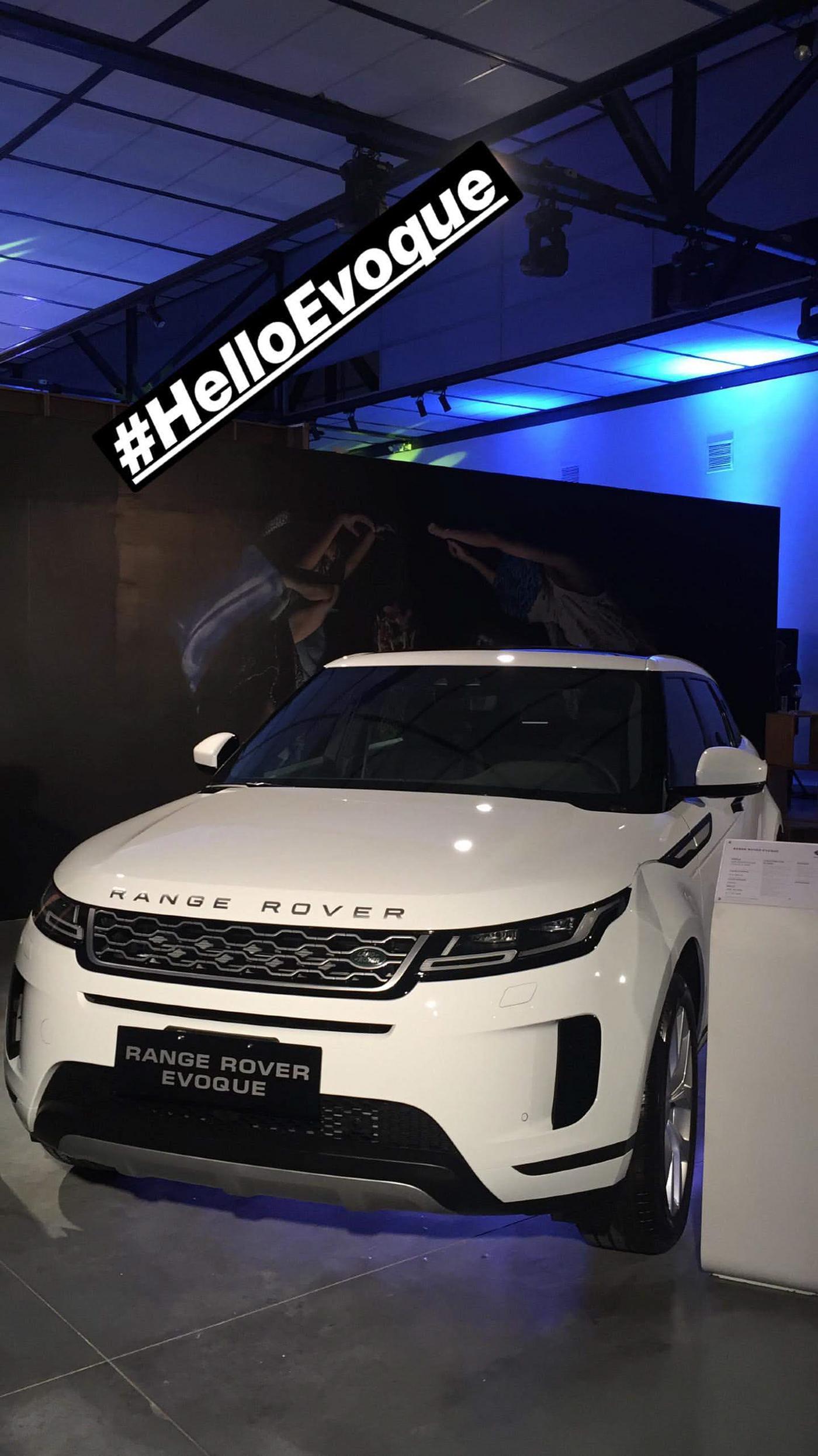 Range Rover Evoque on Pantone Canvas Gallery