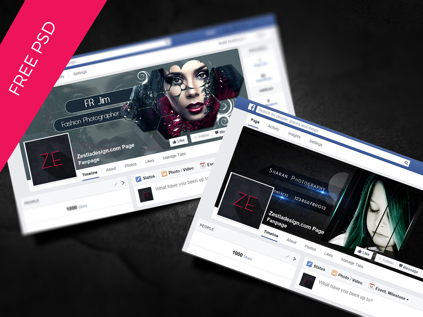 Facebook Cover Free Psd On Behance