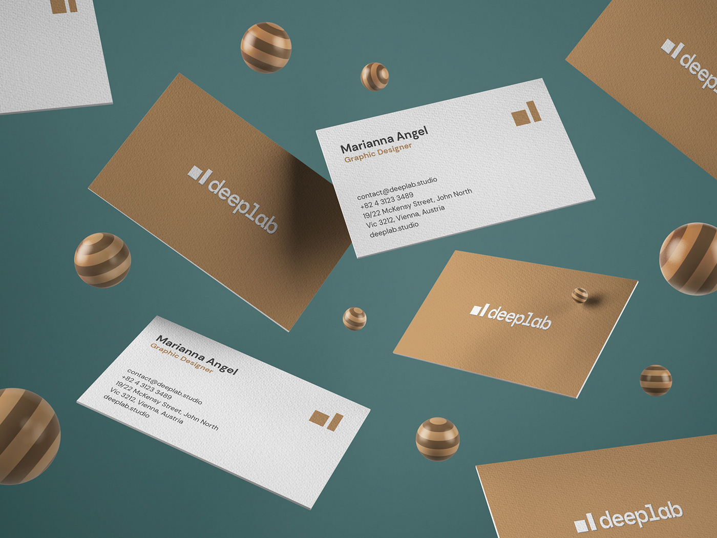 businesscard mockcup branding  gold paper realistic typography   free wood creative