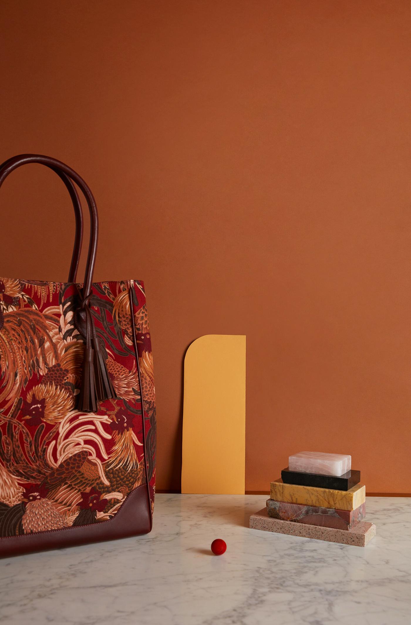Image may contain: wall, indoor and handbag