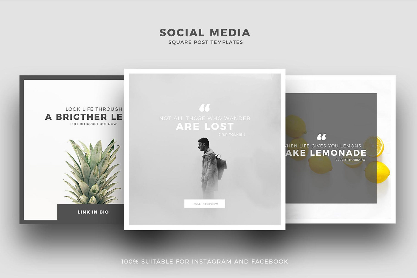 animated social media templates free download on behance