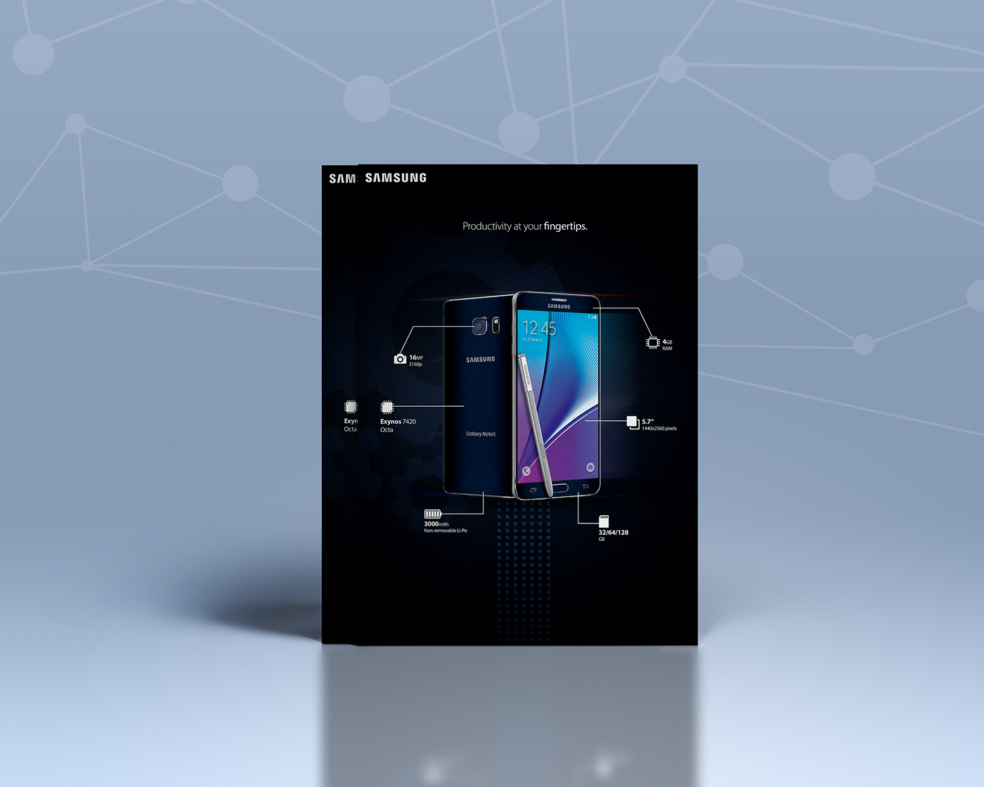 marketing   Samsung note5 graphics design ADV flyer concept