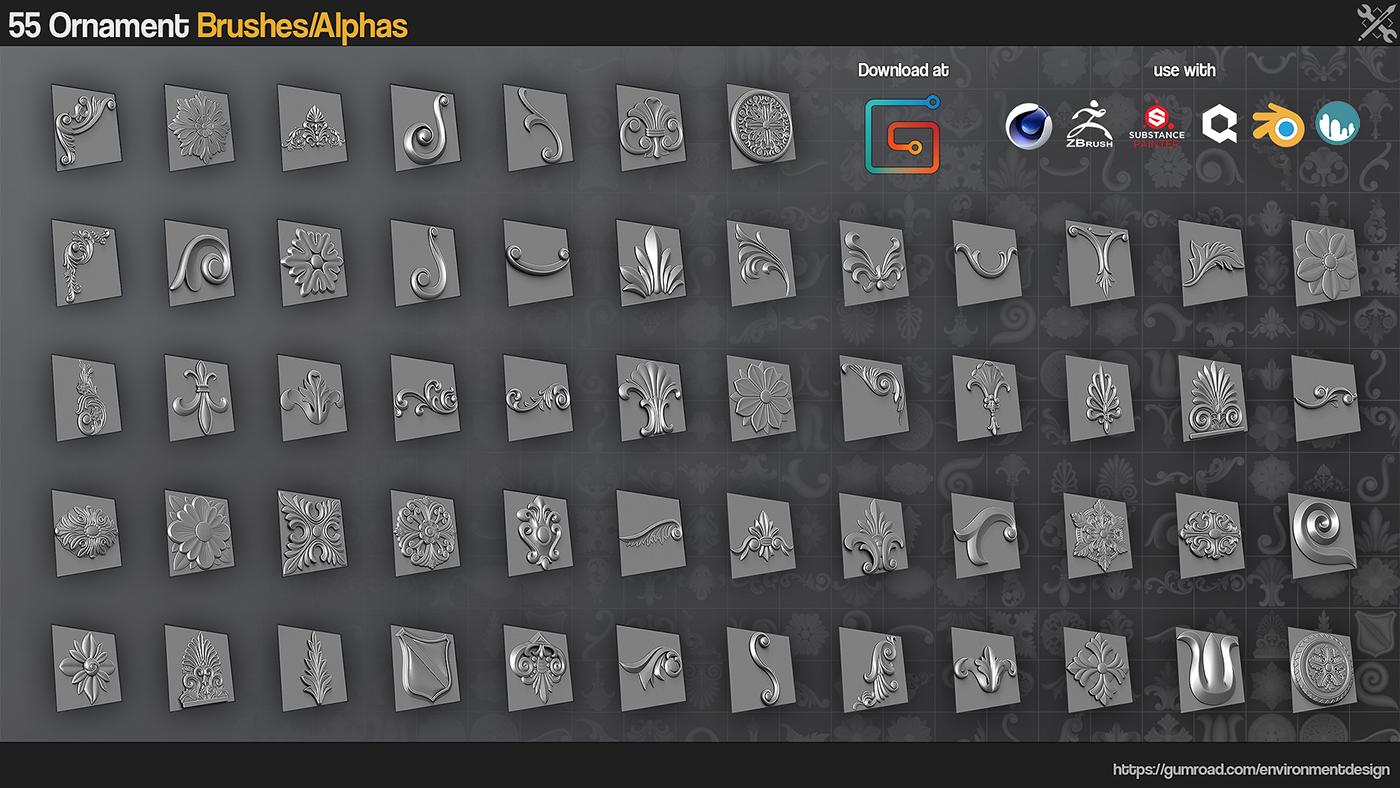 download alphas substance painter