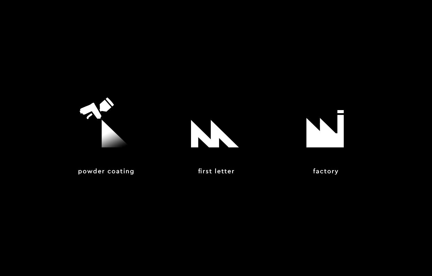 logo CI Corporate Identity Web Webdesign coating industrial factory black minimal