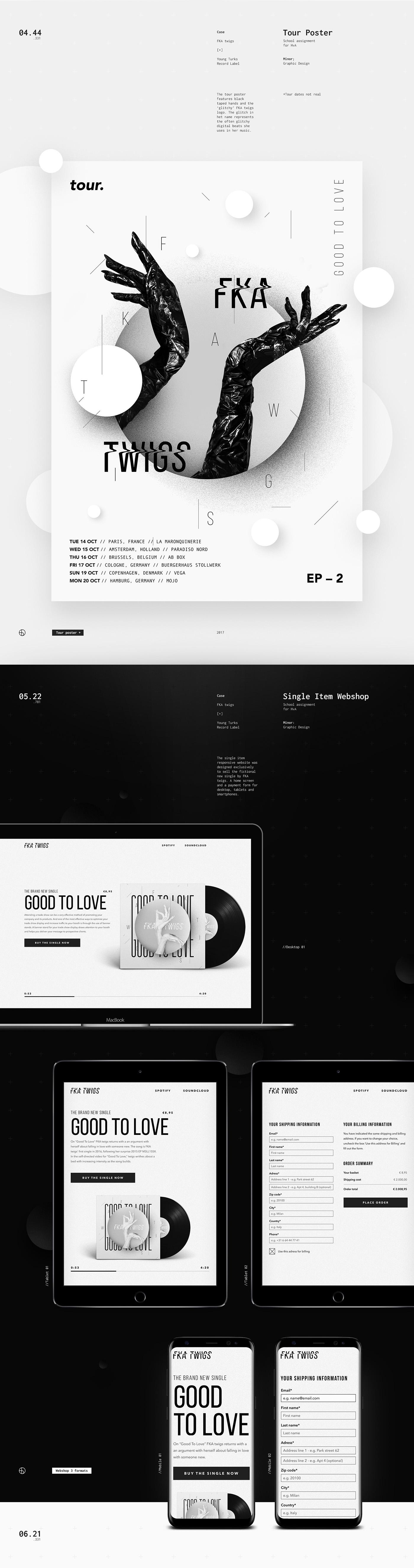 FKA twigs school Album identity artist music visual black White Berghoef