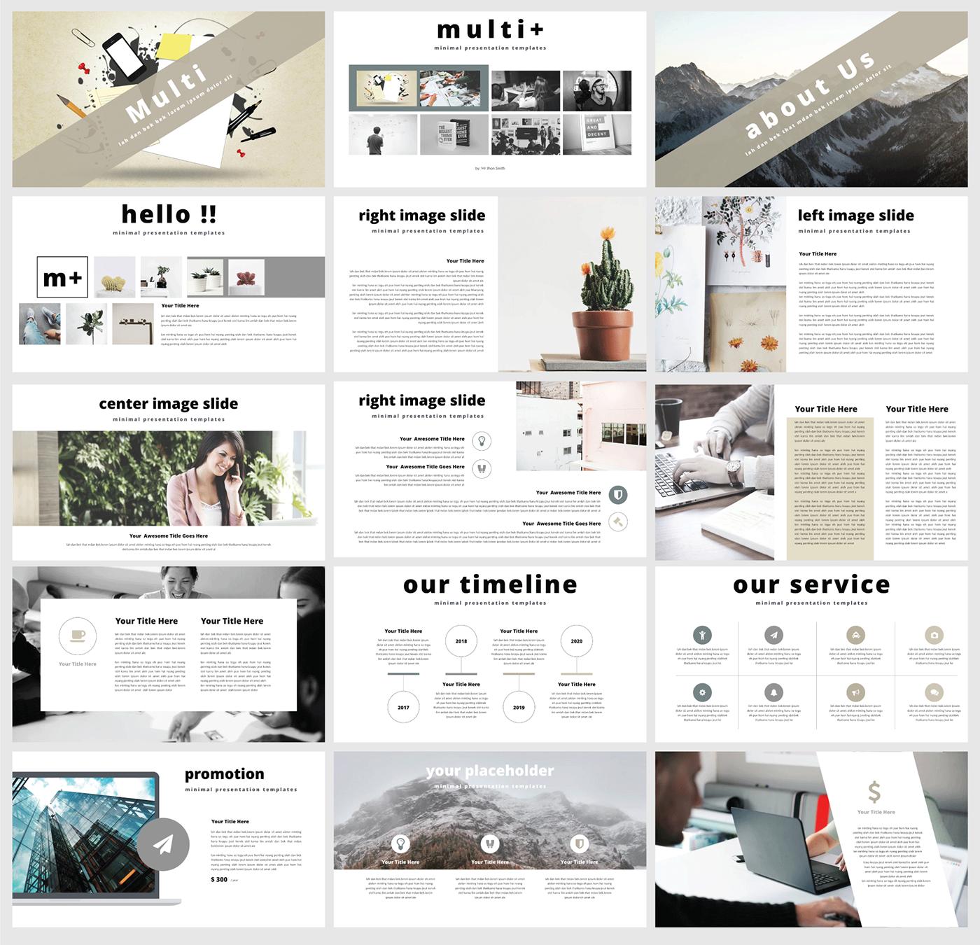 free keynote multi presentation template on behance