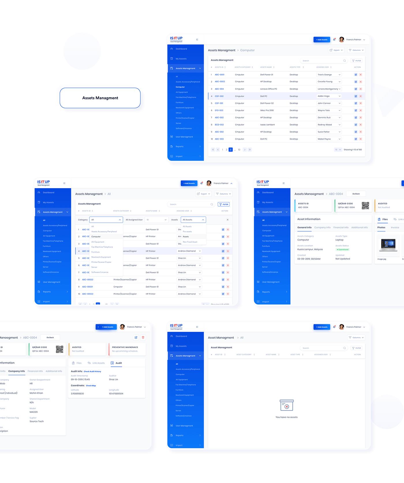 assets maintenace dashboard Interaction design  neumorphism ui soft ui UI UI/UX UI/UX Case Study web application