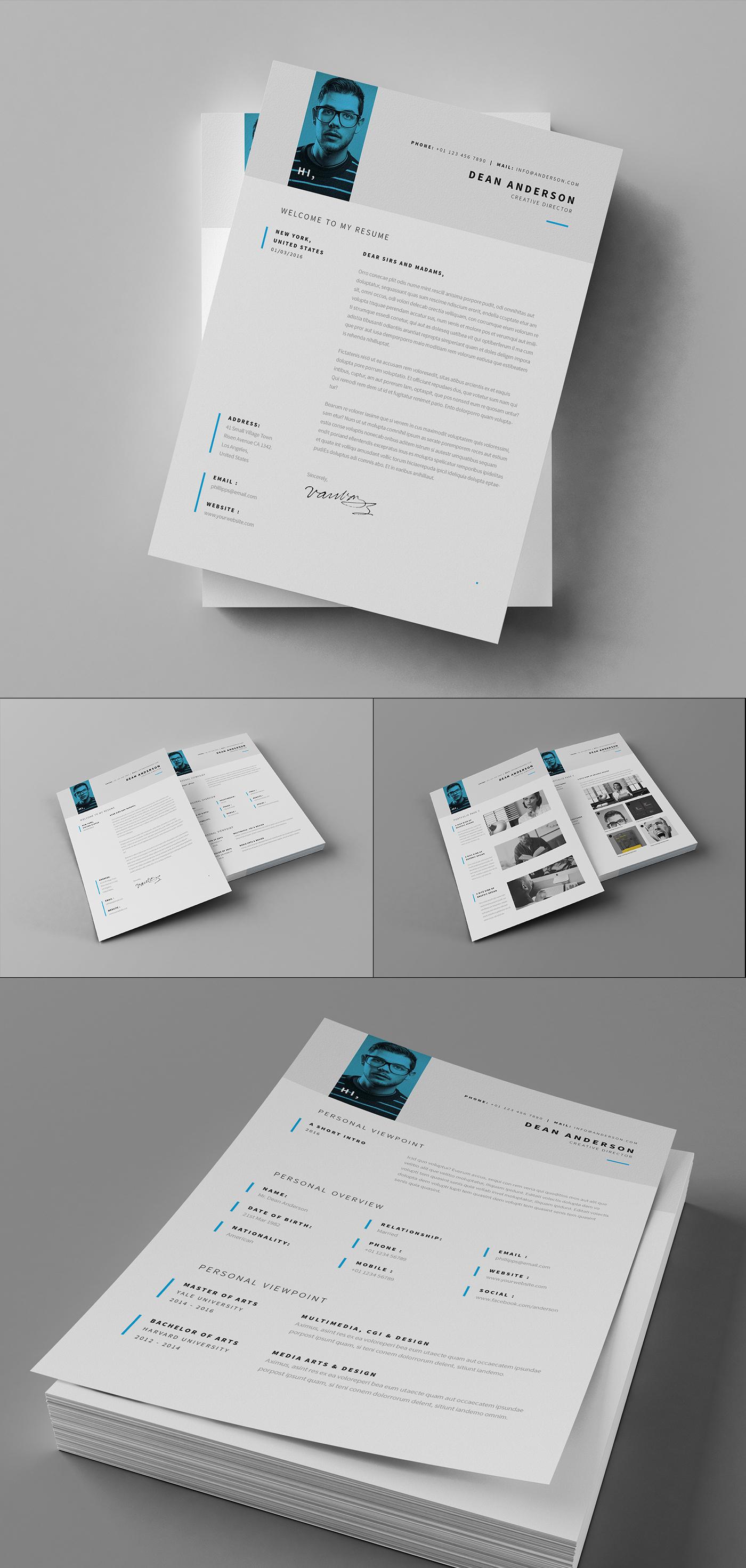 minimal resume    cv    curriculum vitae    7 pages on behance