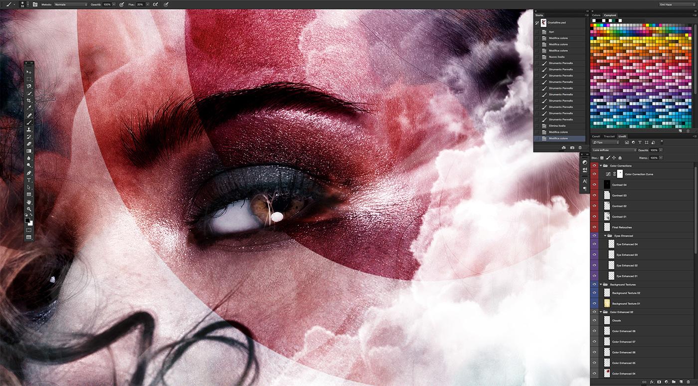 25photoshop photoshop adobe portrait woman watercolors double exposure multiple exposure Emi Haze emi haze art