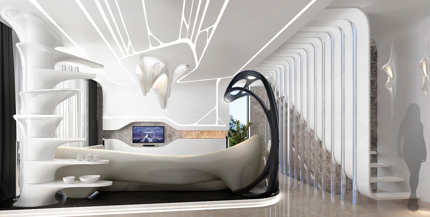 Digital Interior Design Parametric Style On Behance