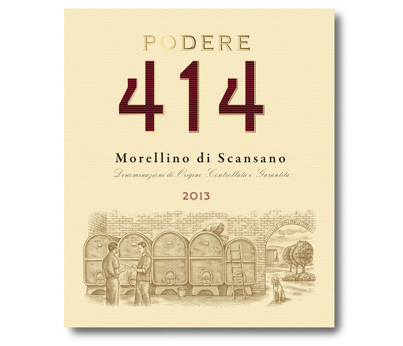 Podere 414 Wine Labels Illustrated By Steven Noble On Behance