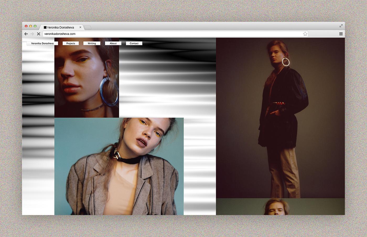 experimental Fashion  portfolio css Website Web Design  graphic design  stylist Audio