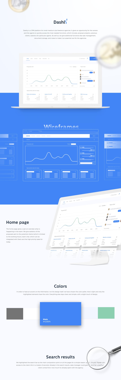 Web UI/UX flat dashboard Freelance Platform CRM Interface blue light