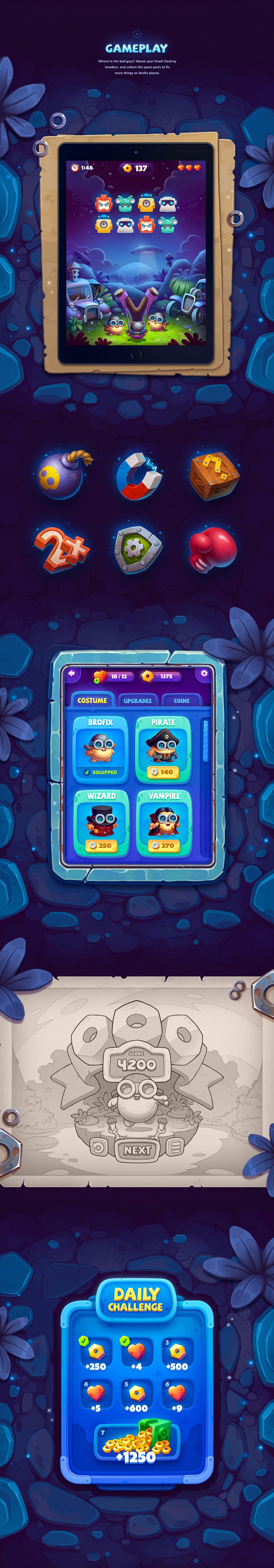 game Character sketch Icon environment mecha robot UI cute arcade