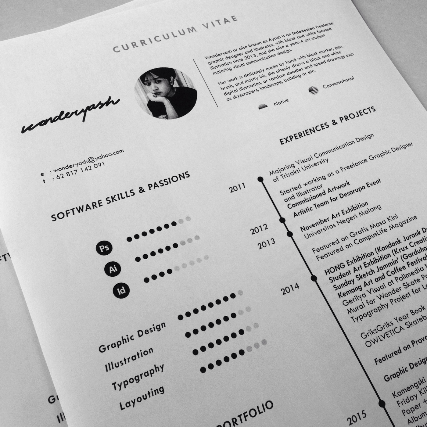 curriculum vitae template  available for download  on behance