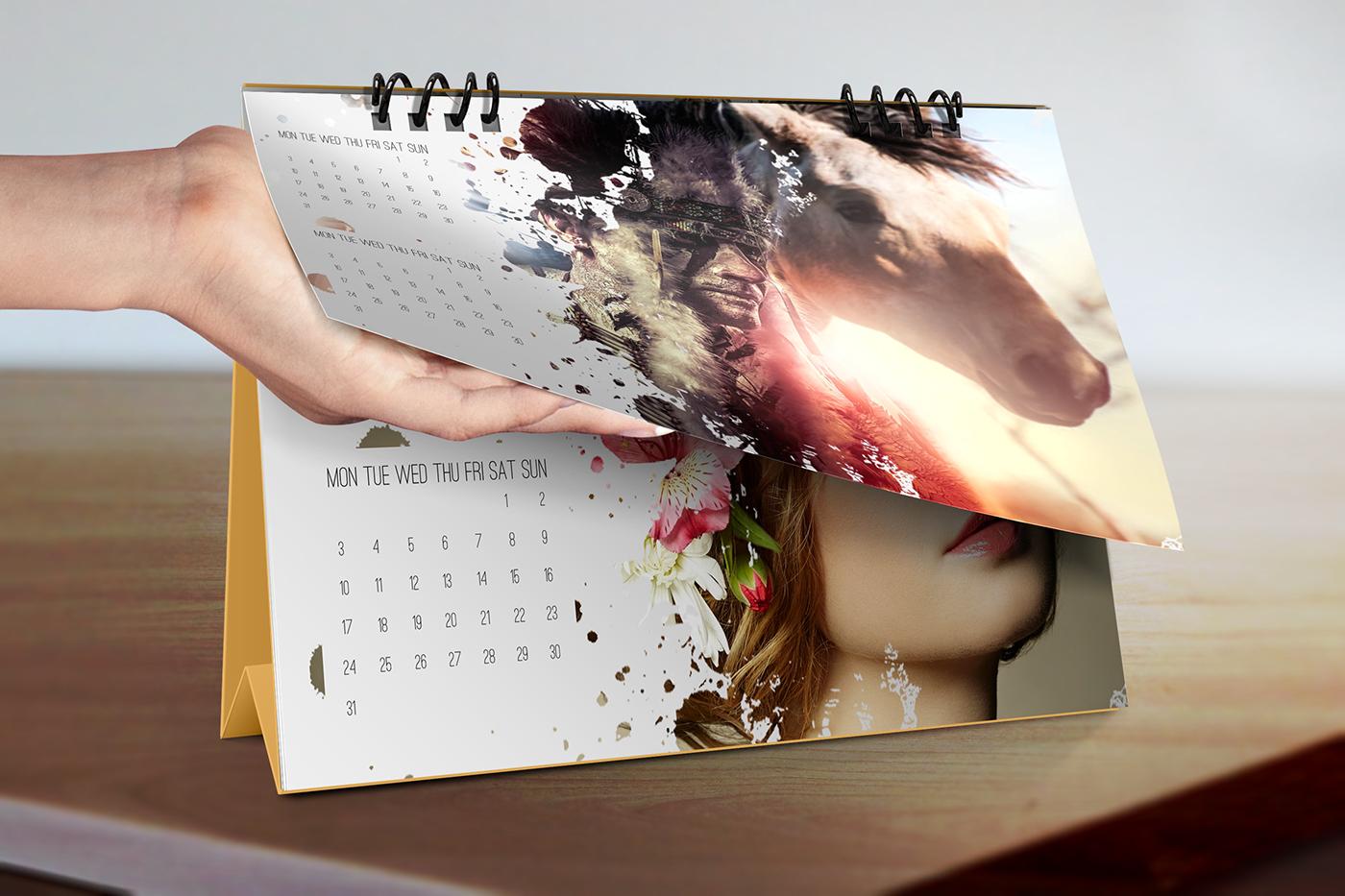Calendar Design Behance : Desk calendar mockups on behance