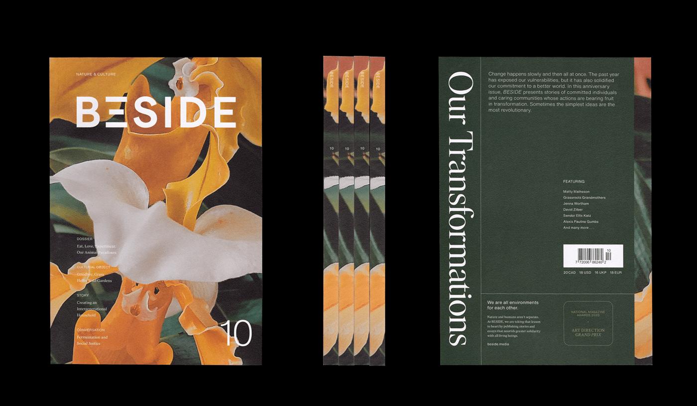 culture design editorial design  identity magazine Magazine Cover Magazine design magazine layout Nature typography