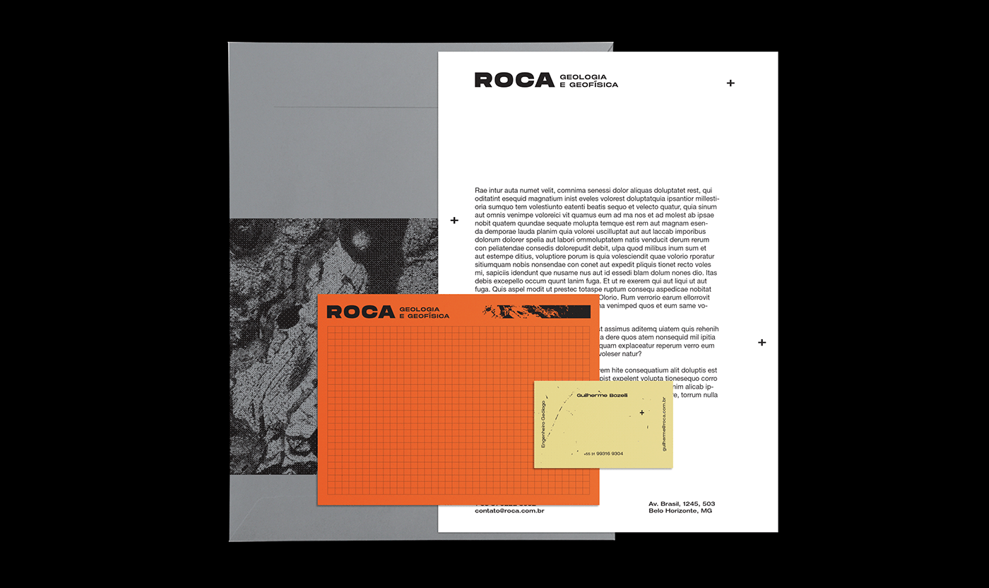 brand identity geology geophysics rock