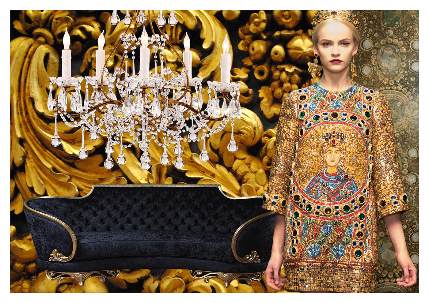 Baroque moodboard on behance for Baroque fashion design
