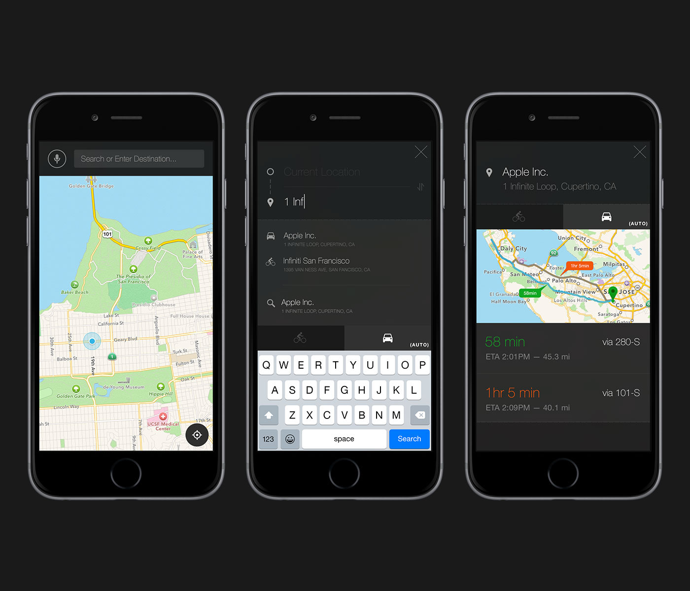 UI ux ios watch apple Driving maps