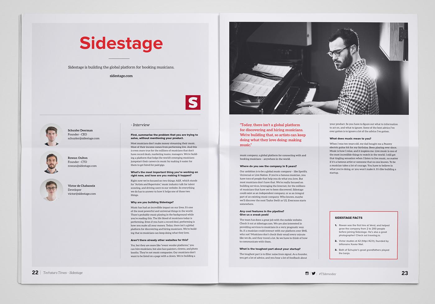 newspaper TechStars editorial typography   ILLUSTRATION  art direction  design graphic design  print design  Startup
