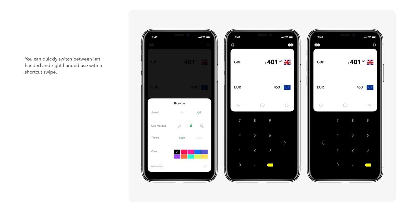 White,dark,flat,UI,ux,currency,Converter,iPhone x,ios,black