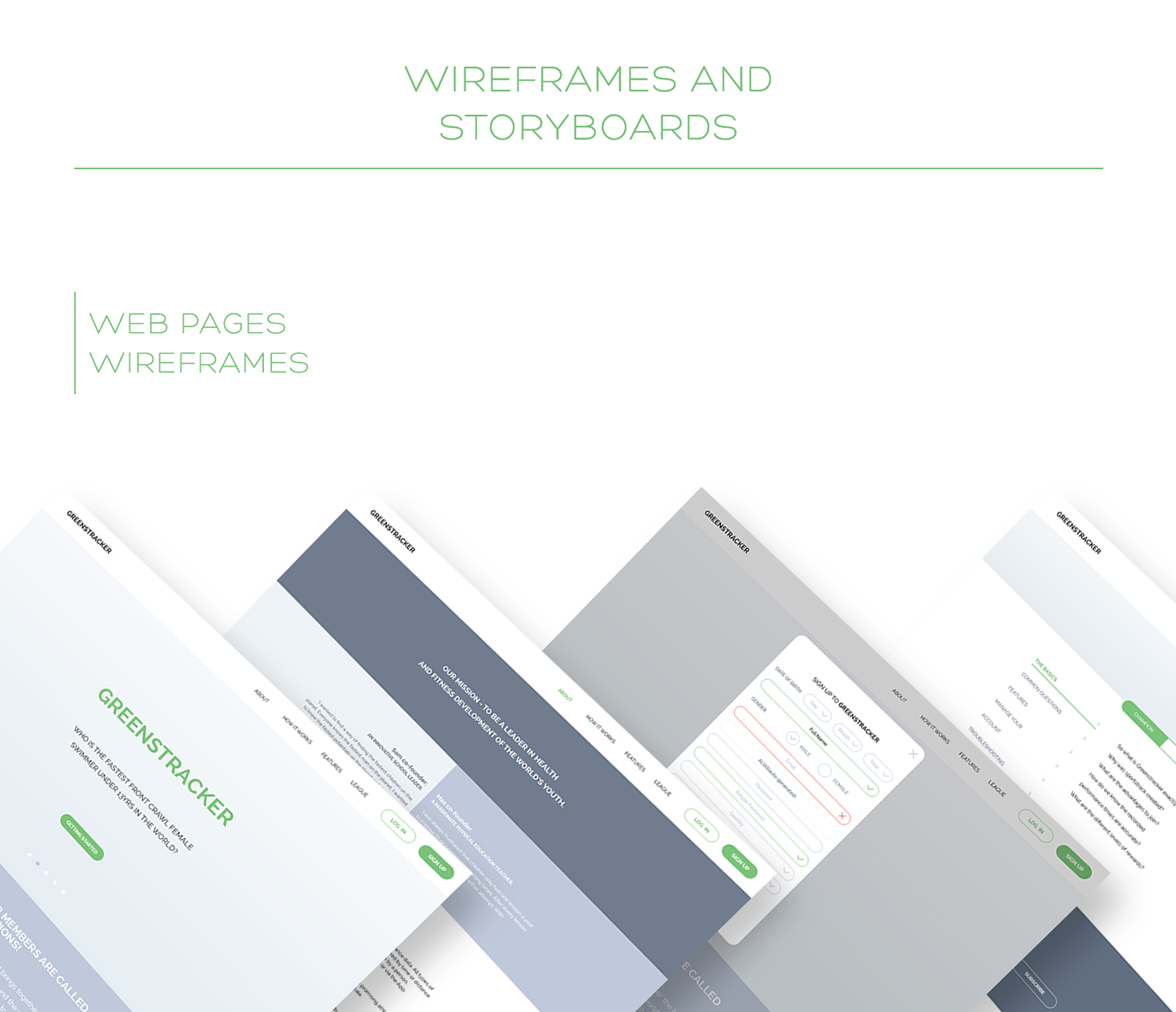 Storyboard For Website Design: Product Map / Storyboard / Wireframes On