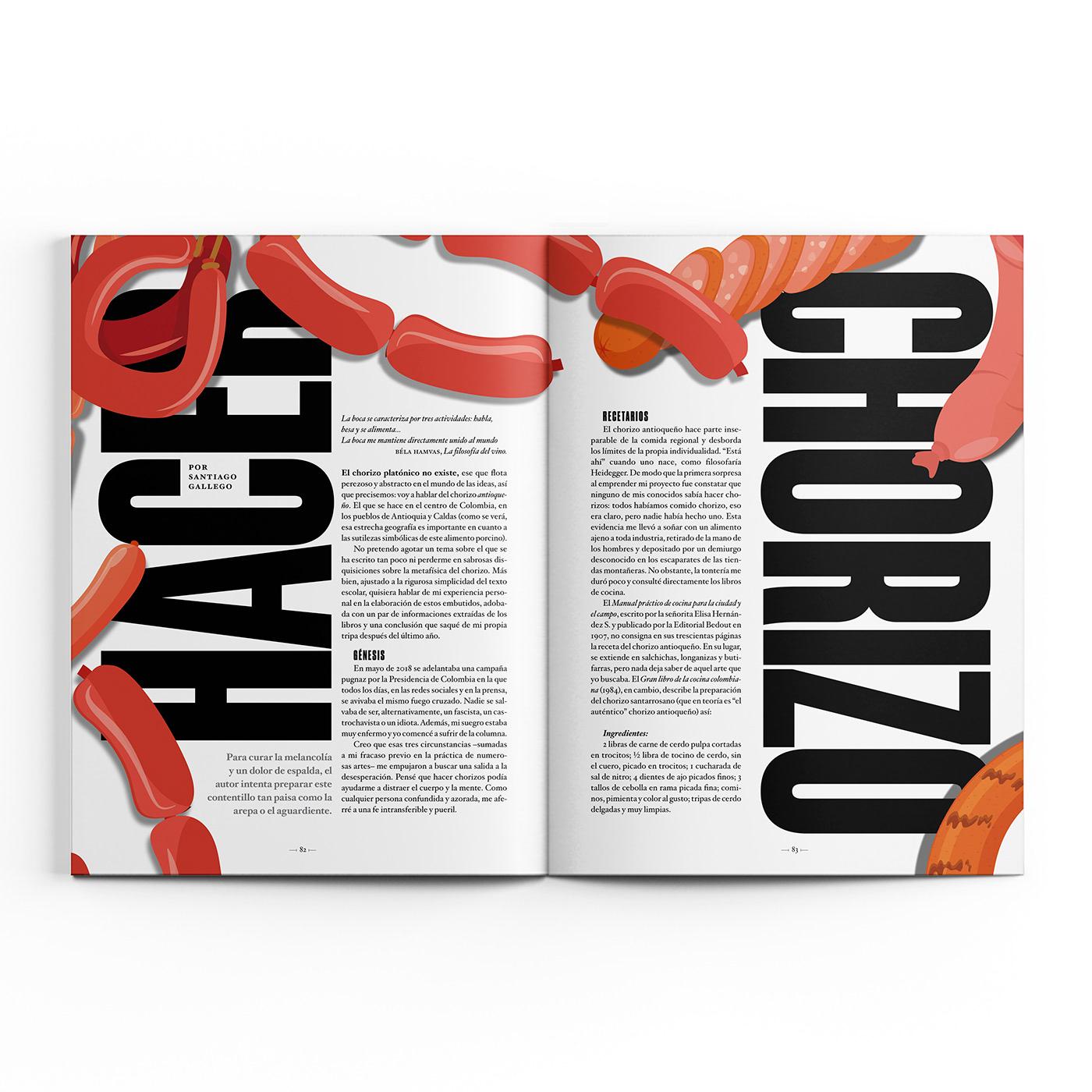 Diseño editorial diseño gráfico editorial editorial design  el malpensante George lozano ILLUSTRATION  ilustracion TUSKER GROTESK