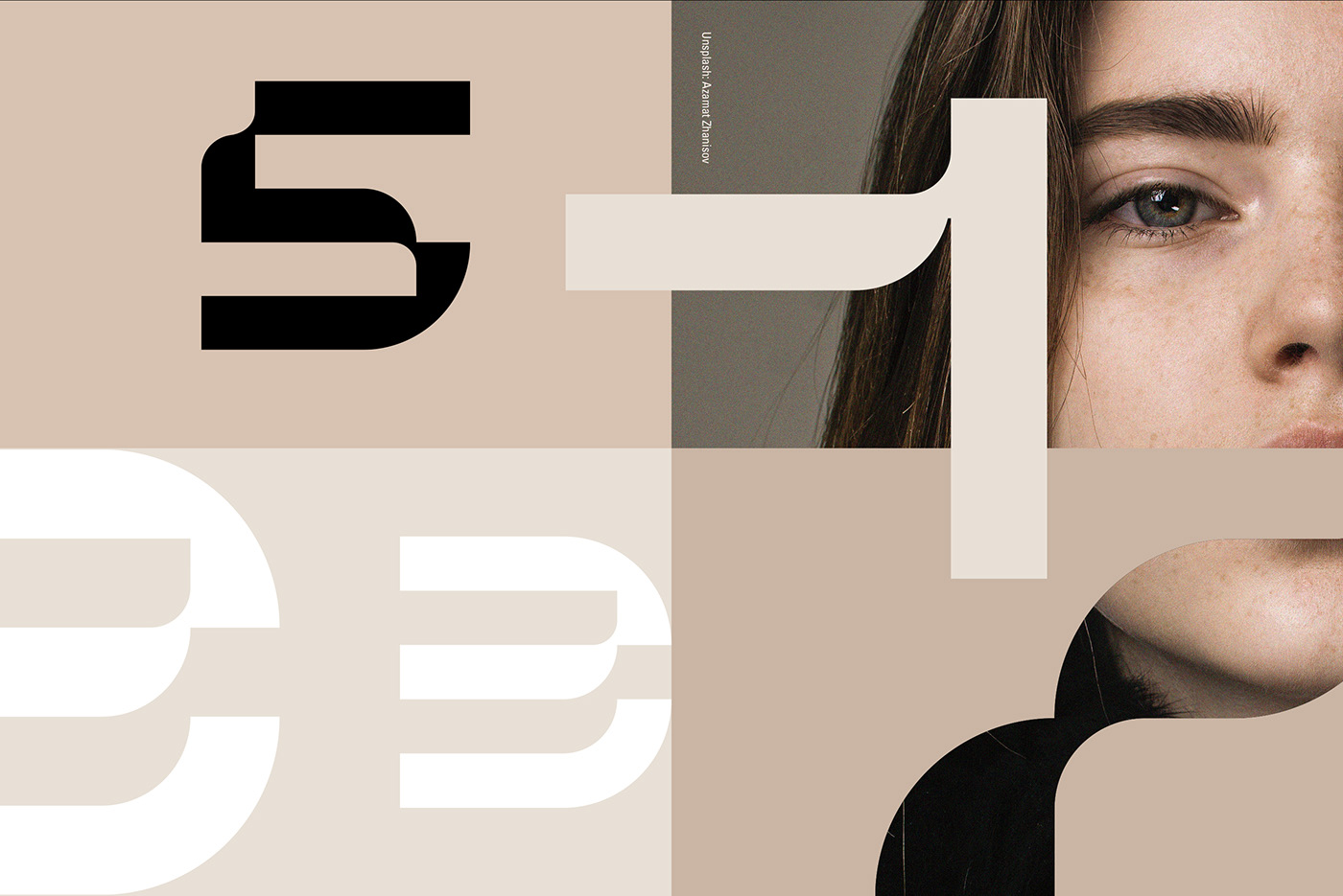 design,type,numbers,weird,Numerals,clean,minimal,Behance,discover,lettering