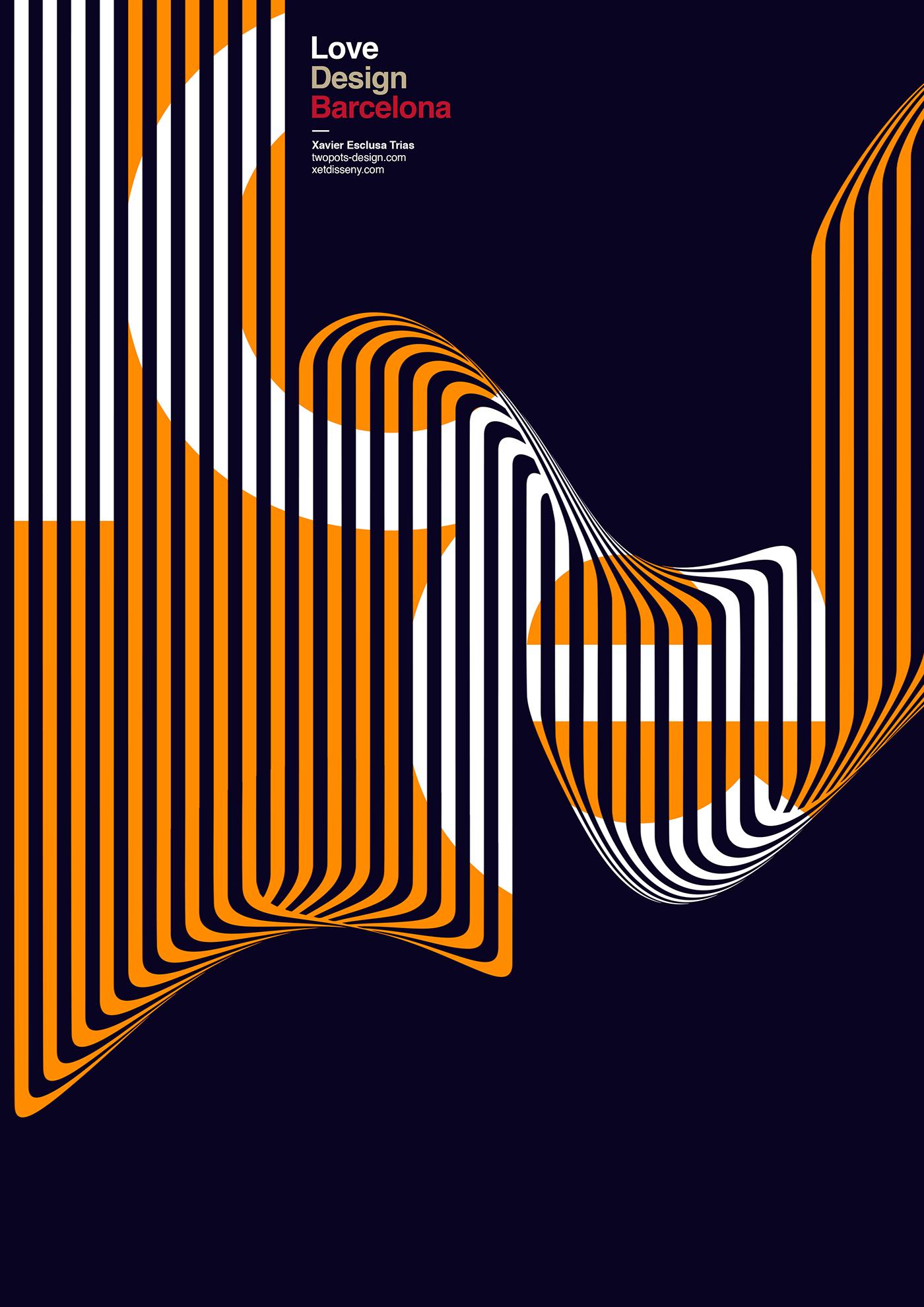 posters Xavier Esclusa Trias design poster art direction  barcelona posters design graphic design  Behance swiss style