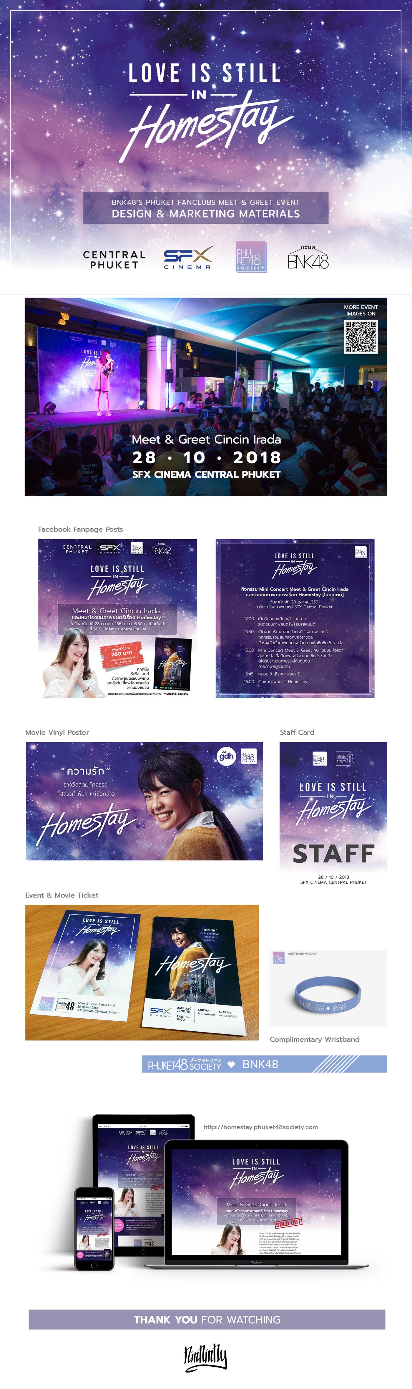 phuket48society bnk48 fanclub Event design materials