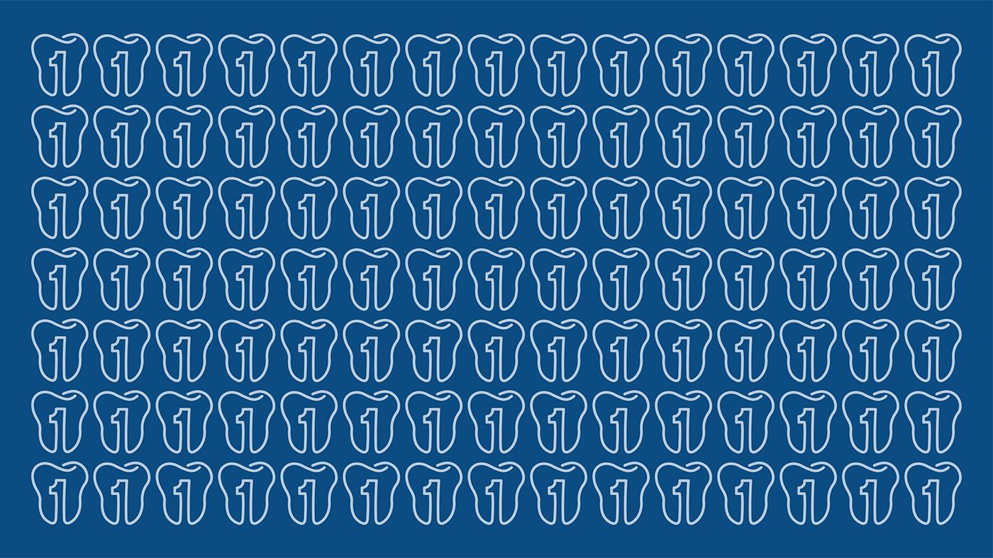 brand identity dental clinic design Health hospital Illustrator logo Logo presentation One tooth