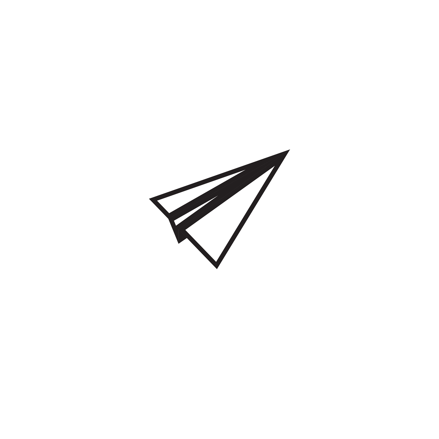 paper airplane logo mark on behance