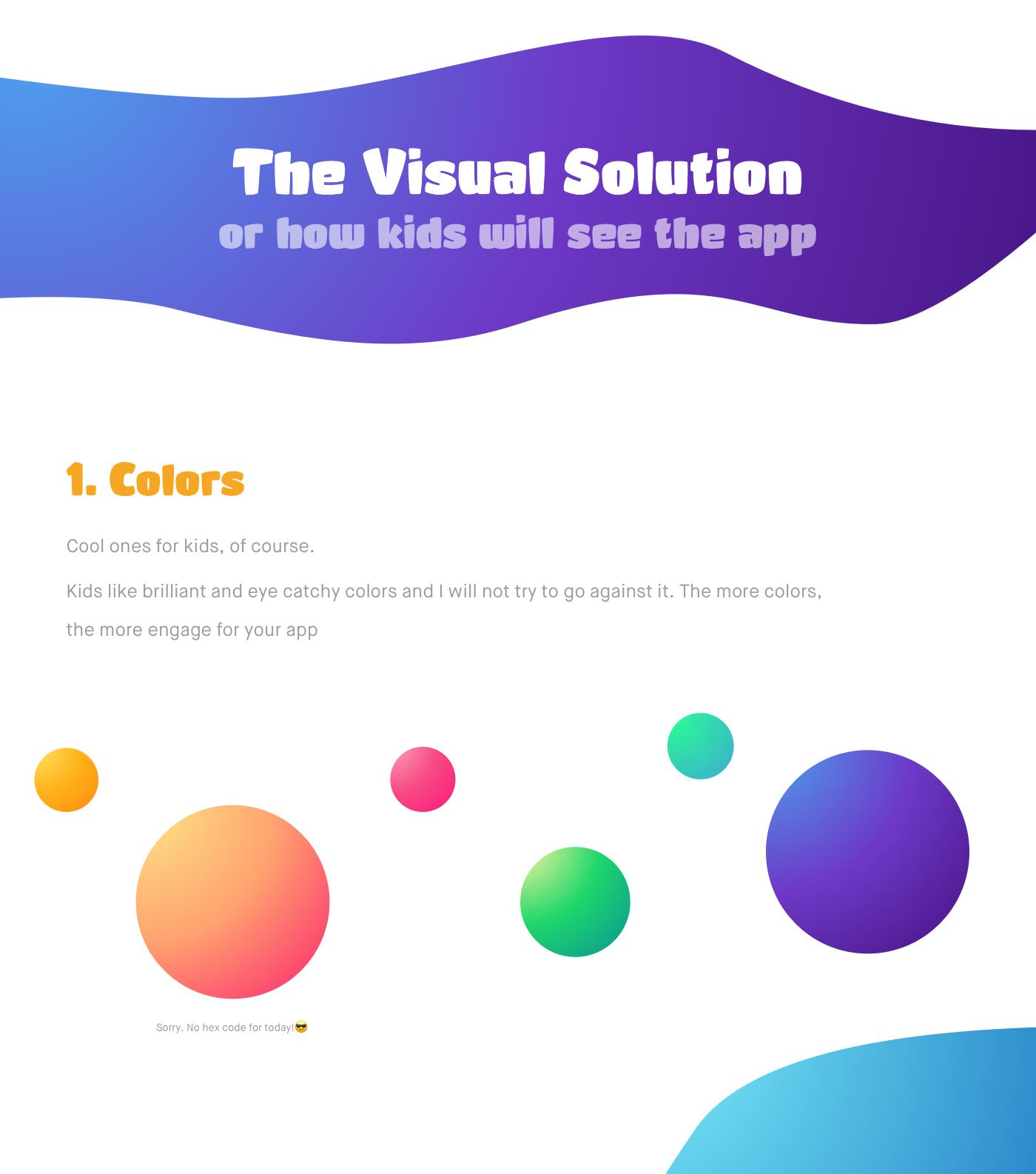 UI ux kids app banking app app design