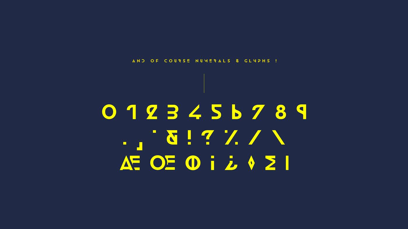 new font emmeran design futuristic modern sans serif Fontself type download