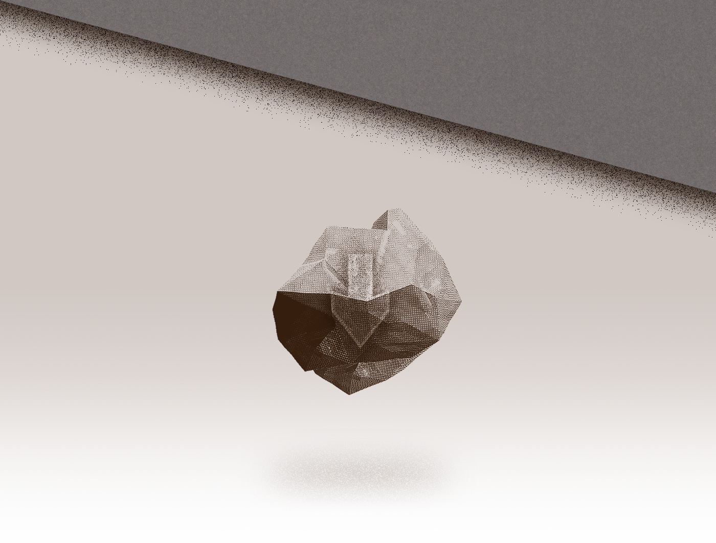 poster Render lowpoly wood stone CGI 3D