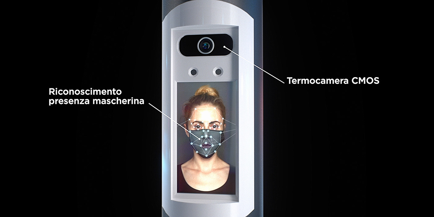 CGI Video colonnina igienizzante product video Promotional thermoscan