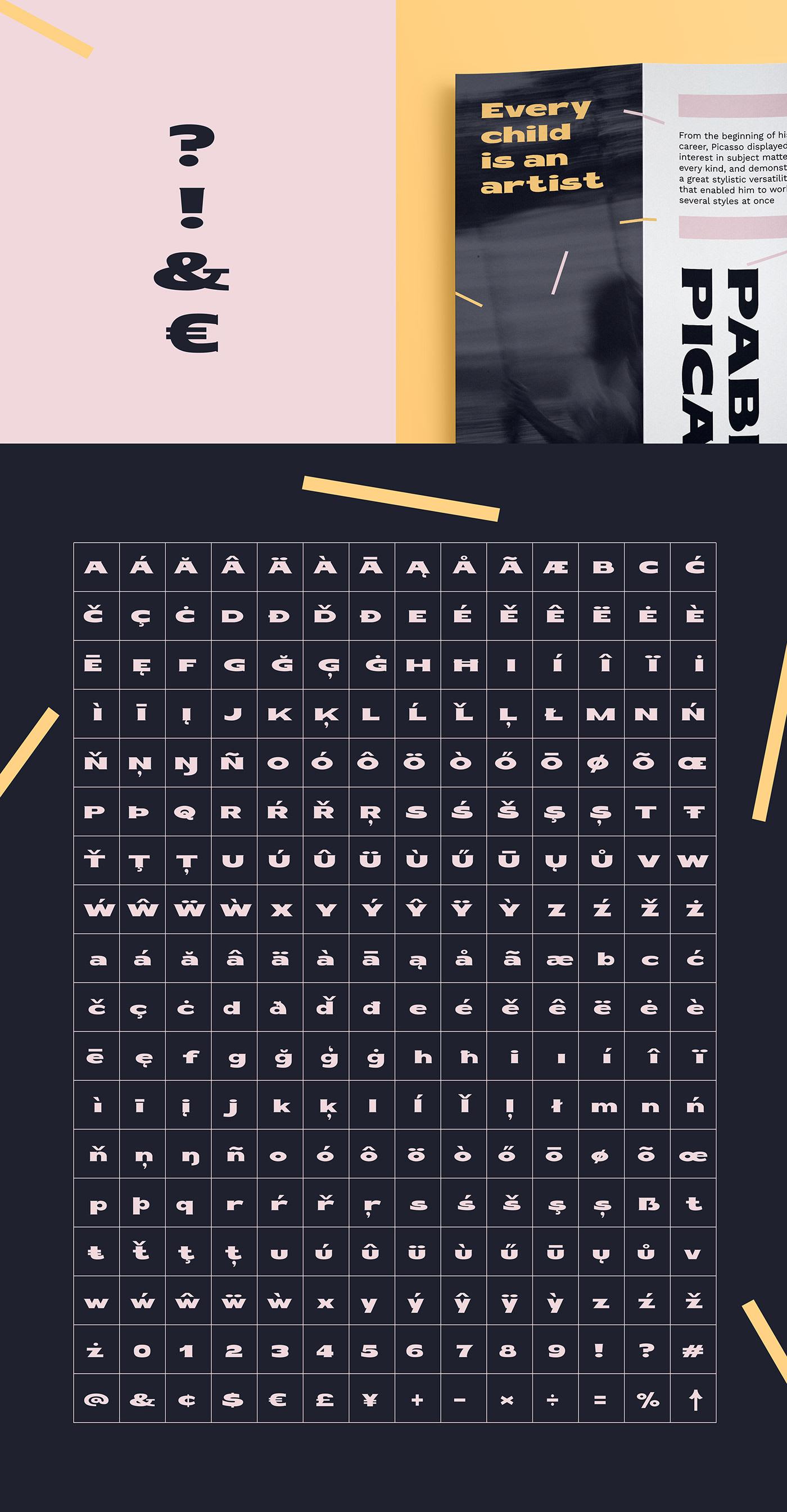 Fond design typography   type design custom type font