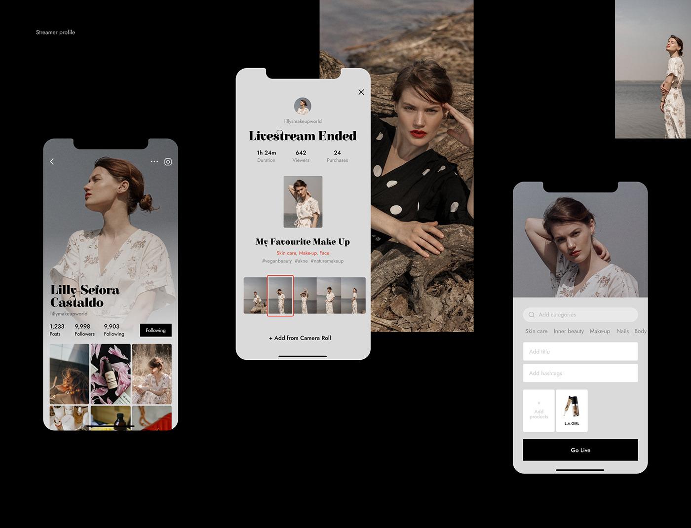 app application beauty cosmetics ios live makeup pastel shades stream streamimg