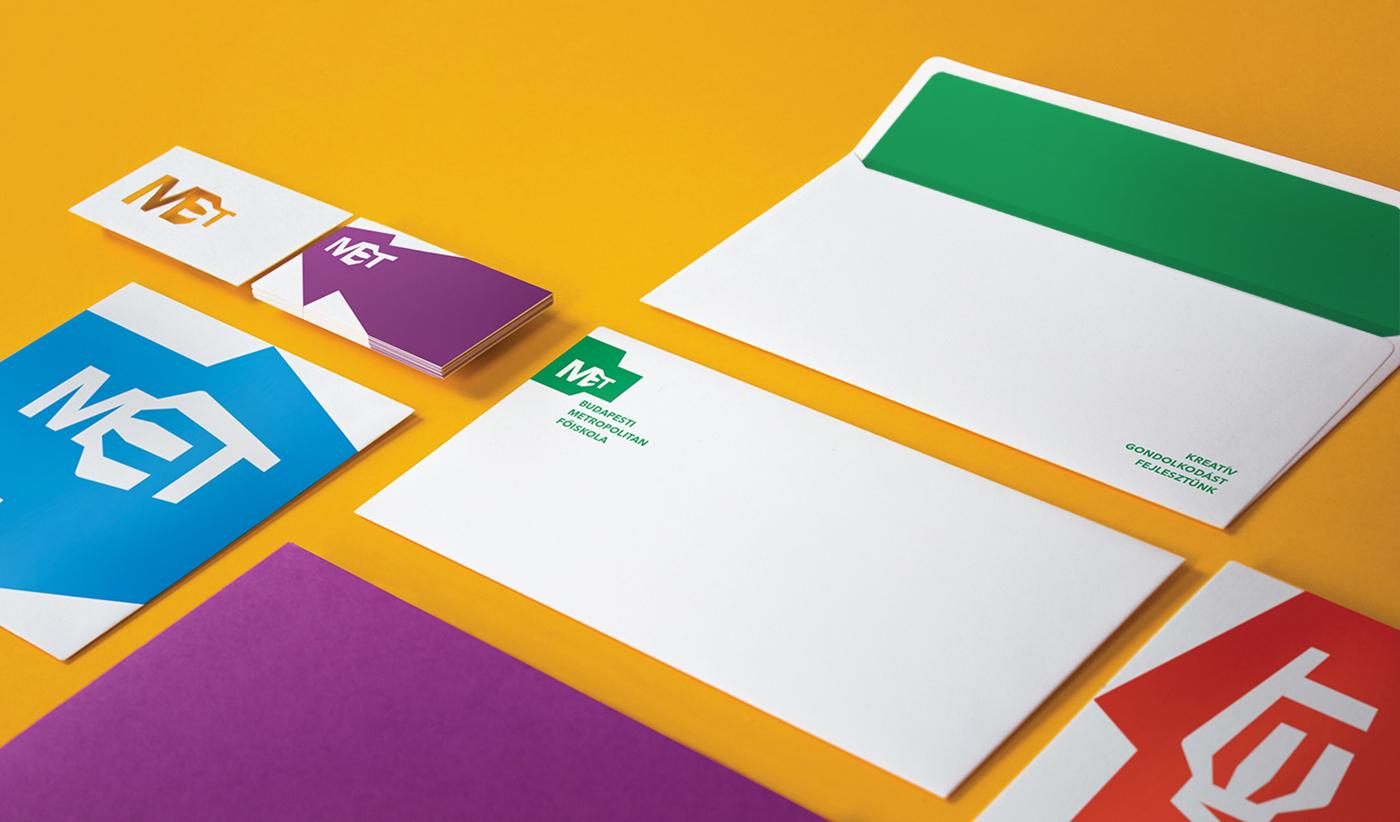 metropolitan city budapest student logo met bkf flexible identity University Dynamic brand Education