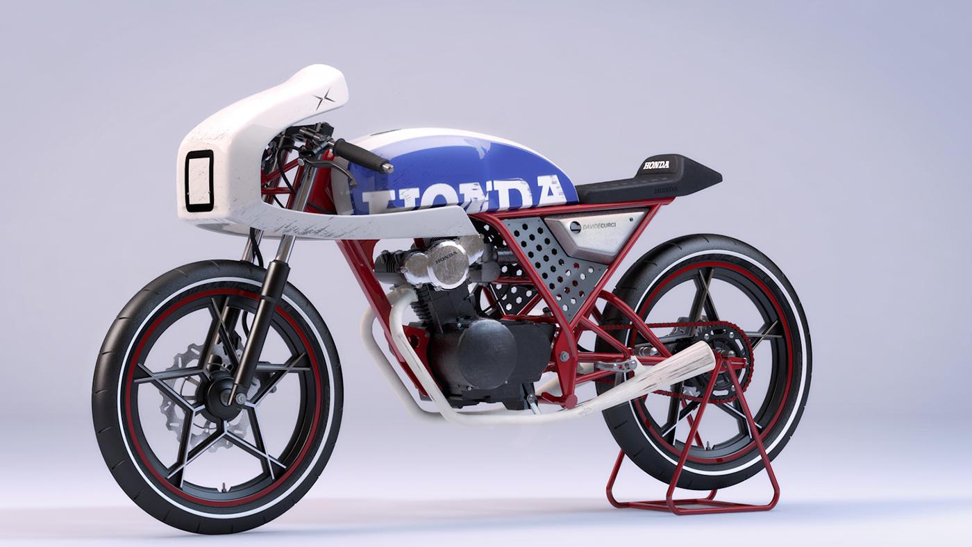 Honda Dream 50 Cafe Cgi On Behance