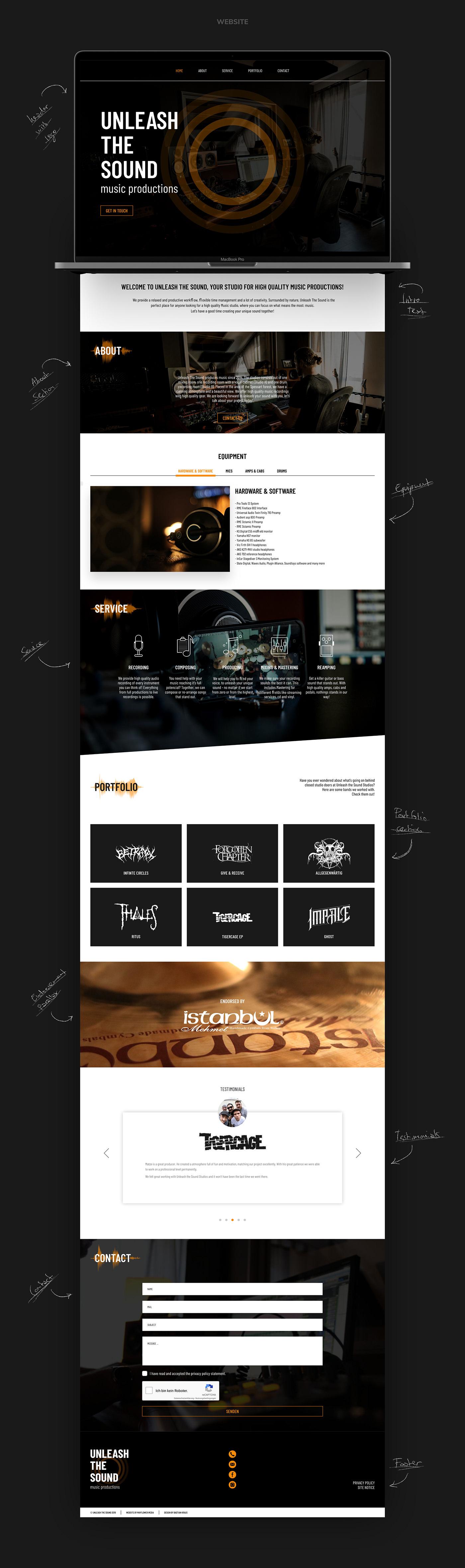 Unleash The Sound // Website