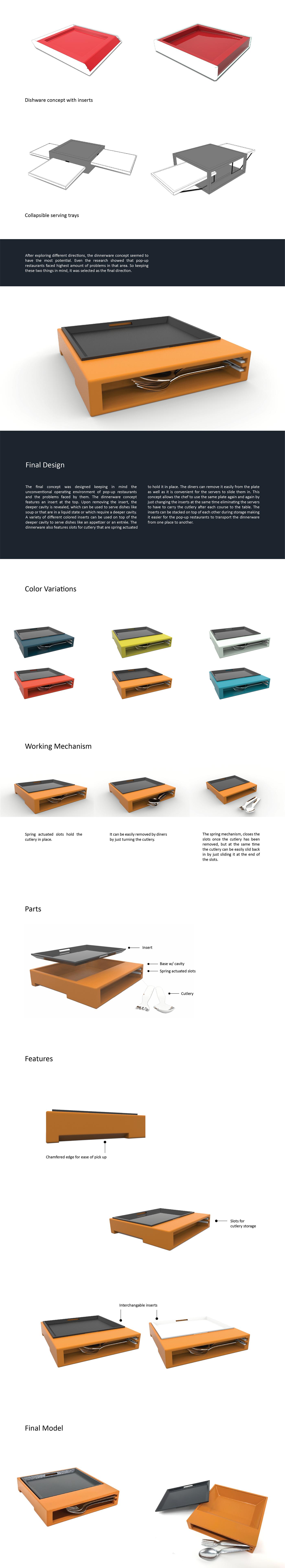 dinnerware Dishware Concept pop-up Digital Modeling